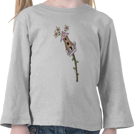 Birdhous y flores camisetas