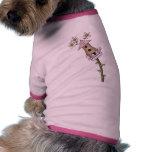 Birdhous y flores ropa para mascota