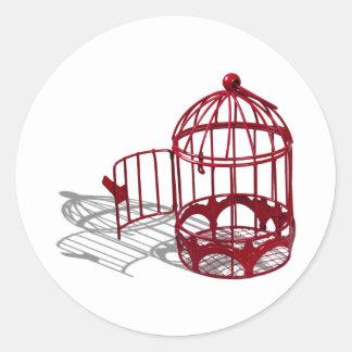 BirdHouse092110 Pegatina Redonda