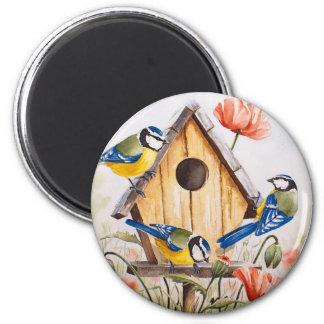 Birdhouse 2 Inch Round Magnet