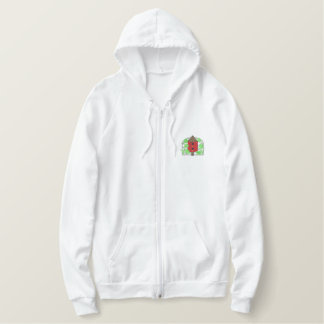 Birdhouse and Vines Embroidered Hoodie
