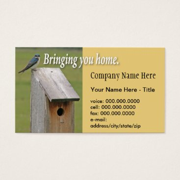 Professional Business Birdhouse Business Card Shell