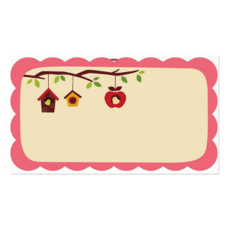 Birdhouse business size recipe gift cards Double-Sided standard business cards (Pack of 100)