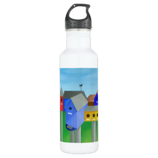 Birdhouse City Water Bottle