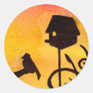 Birdhouse Classic Round Sticker