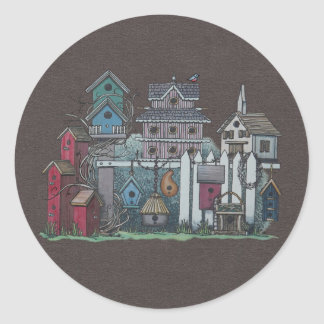 Birdhouse Collection Classic Round Sticker