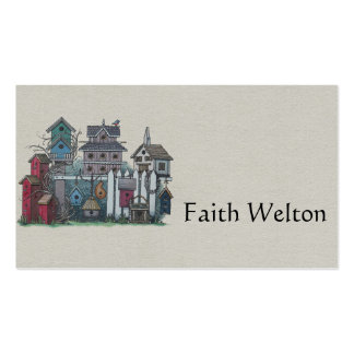 Birdhouse Collection Double-Sided Standard Business Cards (Pack Of 100)