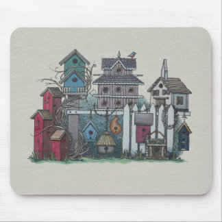 Birdhouse Collection Mouse Pad