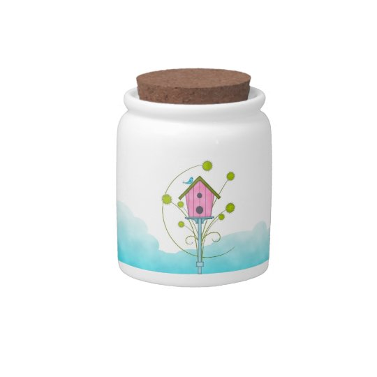 Birdhouse Country Candy Jar