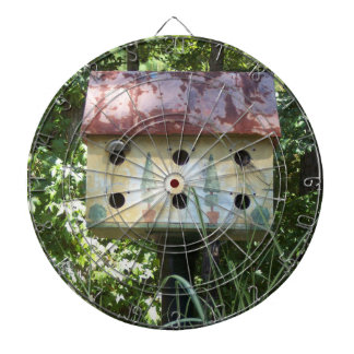 Birdhouse Dartboard With Darts