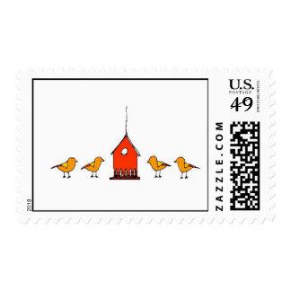 birdhouse del cabela con los chickadees sellos