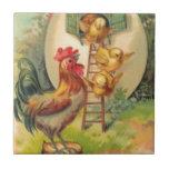 Birdhouse del huevo del polluelo del gallo de Pasc Azulejos Cerámicos