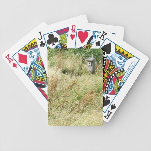 Birdhouse del patio baraja de cartas