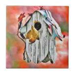 Birdhouse del tecnicolor azulejo