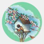 Birdhouse del vintage pegatinas