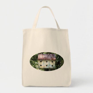 Birdhouse Edited Tote Bag