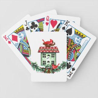 Birdhouse en el navidad baraja cartas de poker