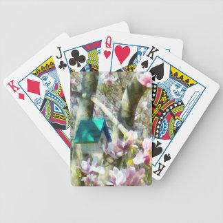Birdhouse en magnolia baraja cartas de poker