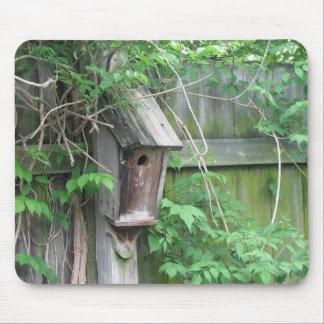 Birdhouse en primavera alfombrillas de ratón