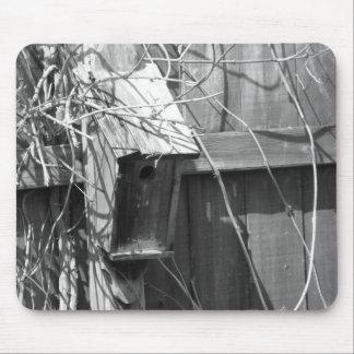 Birdhouse en primavera temprana alfombrilla de ratones