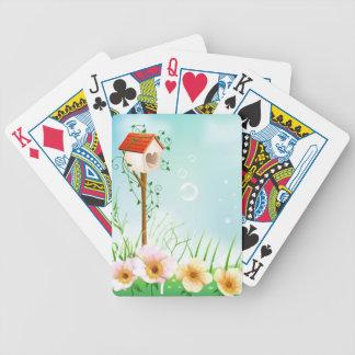 Birdhouse feliz baraja de cartas
