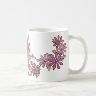 Birdhouse floral taza