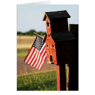 Birdhouse Glory Greeting Card