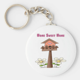 Birdhouse Home Sweet Home Keychain