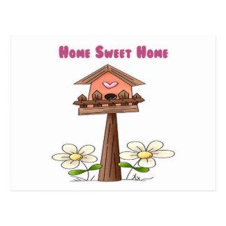 Birdhouse Home Sweet Home Postcard