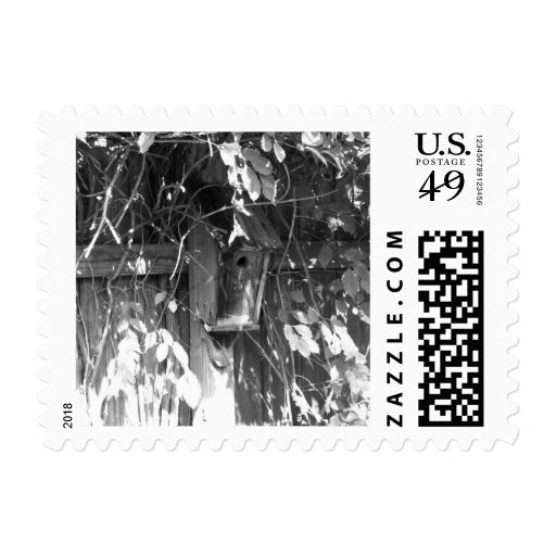 Birdhouse in Fall Postage Stamp