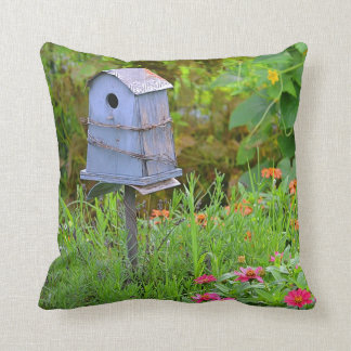Birdhouse in the Garden Pillow
