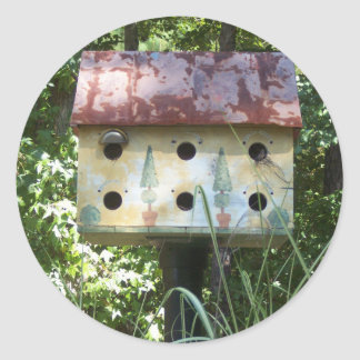 Birdhouse in the Sun Classic Round Sticker