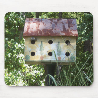 Birdhouse in the Sun Mouse Pad