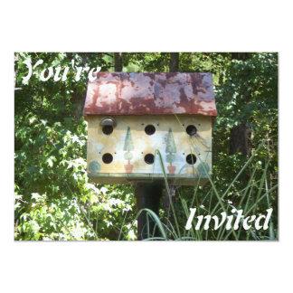 Birdhouse Invitation