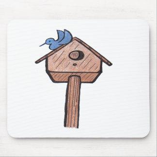 Birdhouse… Mousepad del Bluebird Tapetes De Ratón