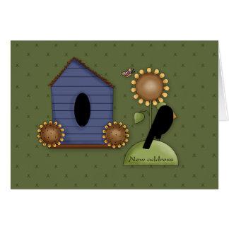 Birdhouse News Address Greeting Card