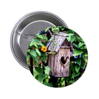 Birdhouse Pinback Button