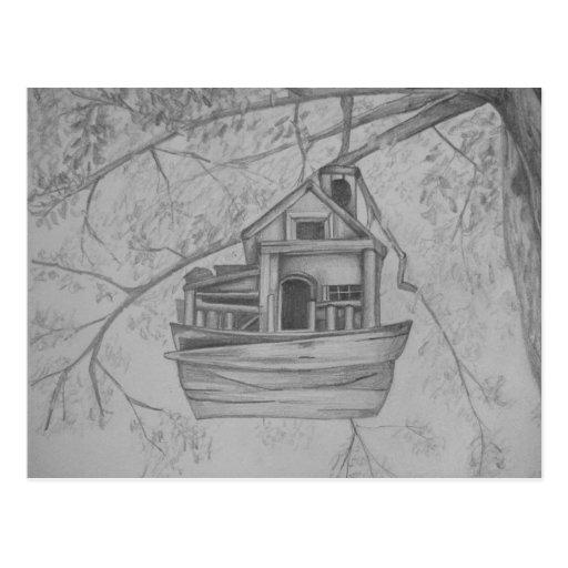 Birdhouse Postcard