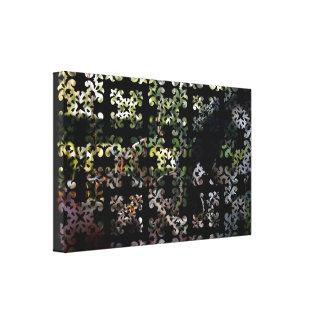 Birdhouse roto damasco de los vigilantes de pájaro impresión en lienzo estirada