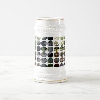 Birdhouse roto lunar de los vigilantes de pájaro jarra de cerveza