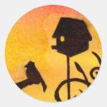 Birdhouse Round Sticker