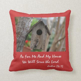 Birdhouse rústico, con verso, 24:15 de Joshua Cojín