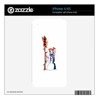 Birdhouse Snowman Decal For The iPhone 4S