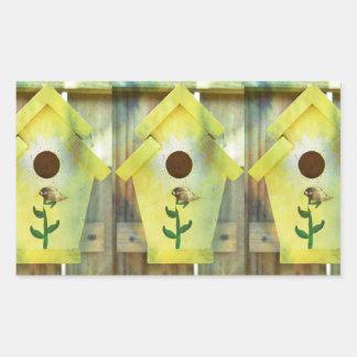 Birdhouse Rectangular Sticker