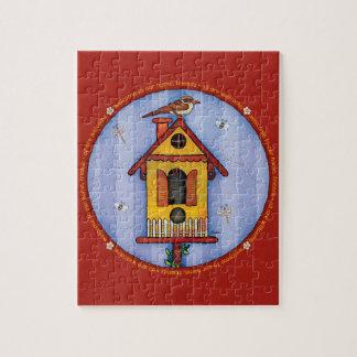 Birdhouse with Bird Jigsaw Puzzles