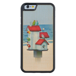 Birdhouse with Parrots and Parakeets Carved® Maple iPhone 6 Bumper Case