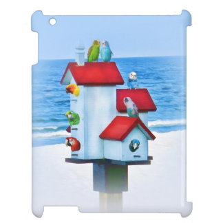 Birdhouse with Parrots and Parakeets Case For The iPad 2 3 4