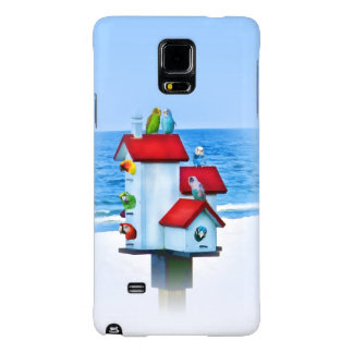 Birdhouse with Parrots and Parakeets Galaxy Note 4 Case