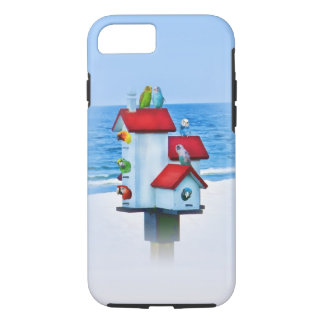 Birdhouse with Parrots and Parakeets iPhone 7 Case