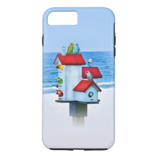 Birdhouse with Parrots and Parakeets iPhone 7 Plus Case